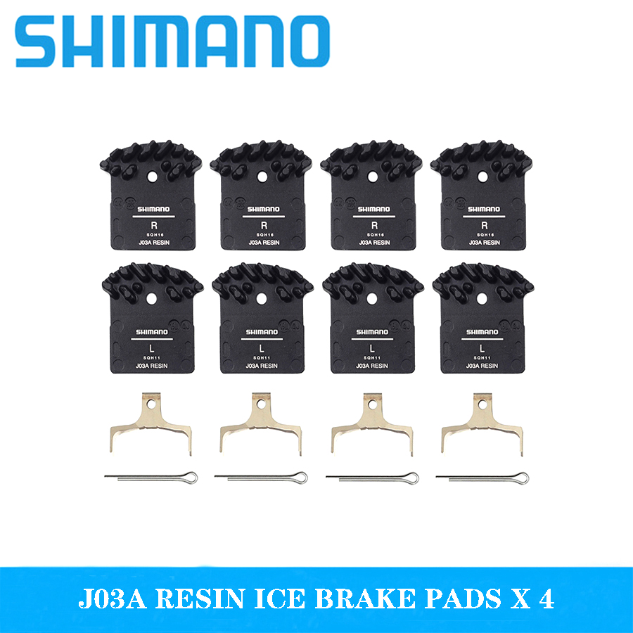New <font><b>Shimano</b></font> J02A Resin ICE <font><b>Brake</b></font> Pads MTB For <font><b>M7000</b></font> M8000 M9000 M9020 M6000 DEORE XT <font><b>SLX</b></font> DEORE Cooling Fin Ice Tech <font><b>Brake</b></font> Pads image