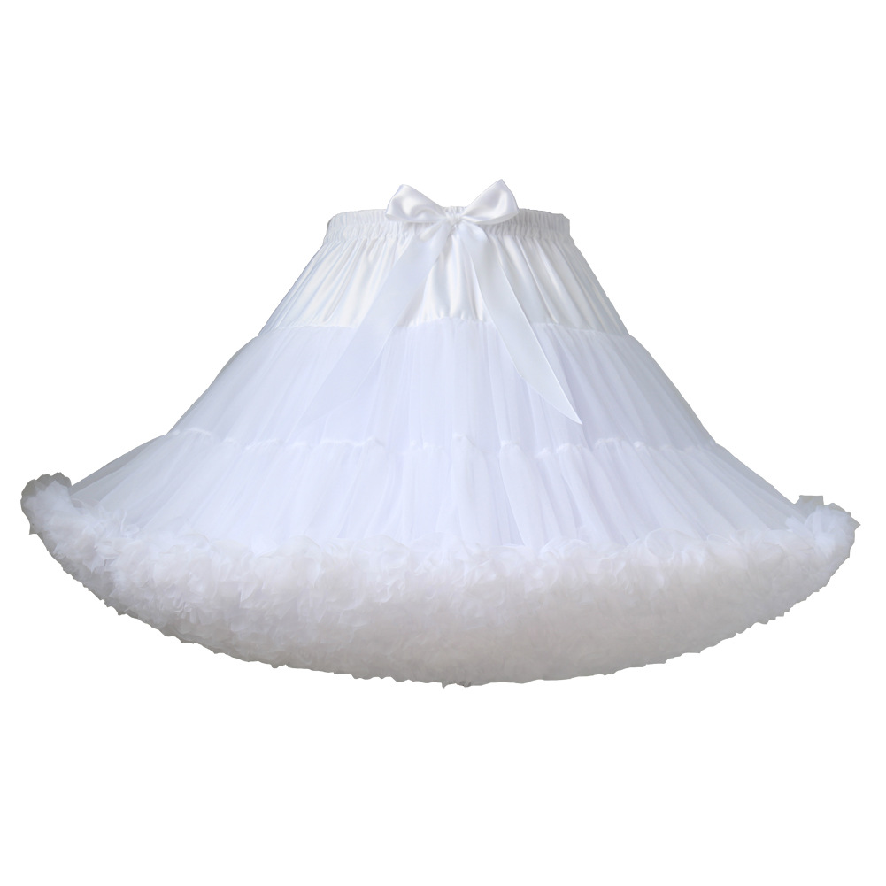 Ordinary Version Adult Mesh Dress Solid Color Wedding Dress Tutu Cosplay Soft Girl Lolita Crinoline Wholesale