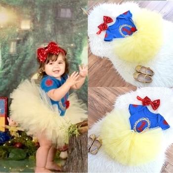 Vestido de 1 año de fiesta de cumpleaños para niñas pequeñas, Blancanieves, 1ª ropa, tutú de unicornio, vestidos de bautismo para niños