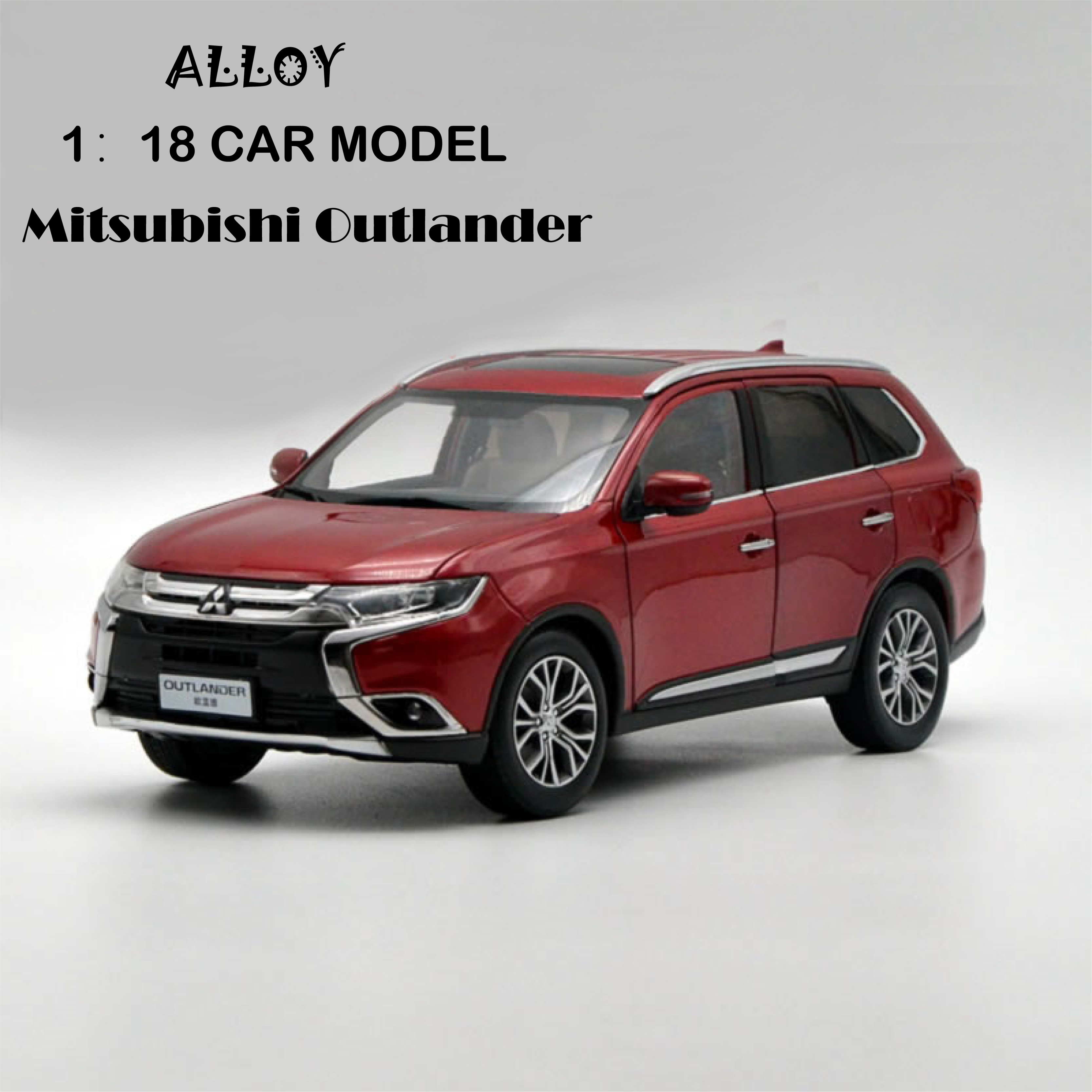 1:18 Scale Mitsubishi Outlander Alloy Diecast Metal Car Model Collection Diecast Model  Car Suit Toys For Children Birthday Gift