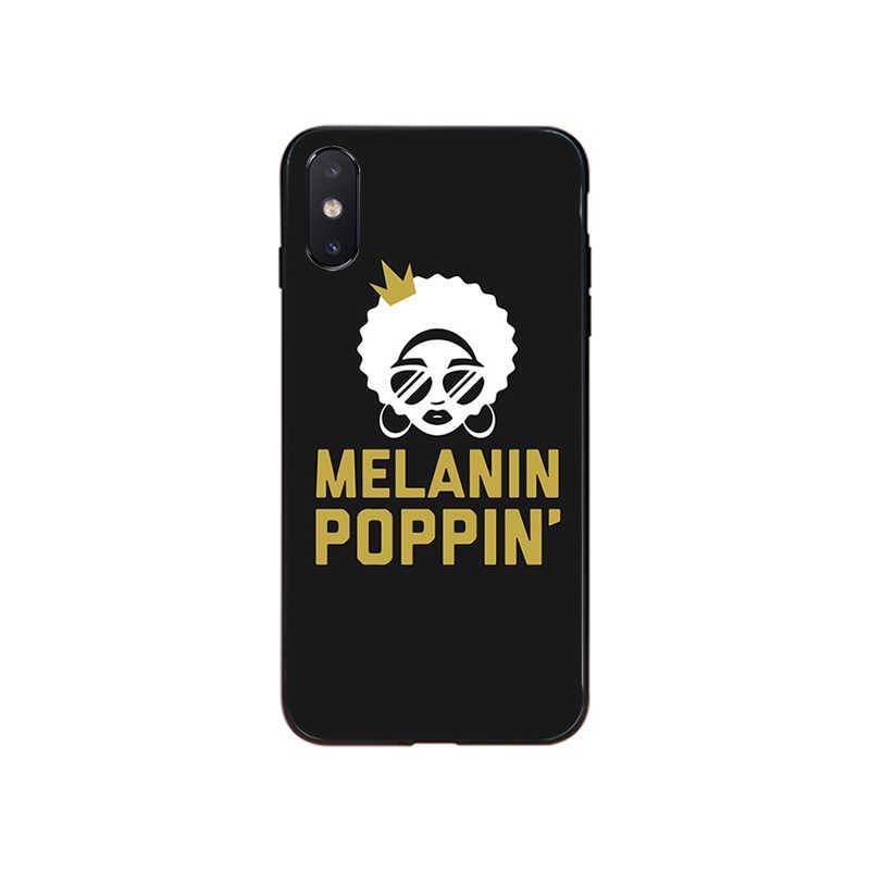 MaiYaCa Afro czarna dziewczyna magiczna królowa melanin poppin futerał i akcesoria do telefonów dla iPhone 11 Pro XS MAX XS XR 8 7 6 Plus 5 5S SE