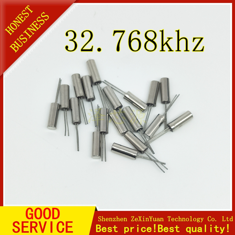 200PCS 32.768KHz 32.768 KHZ 32.768K Frequency Resonator Oscillator Quartz Crystal Cylender 2*6mm