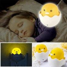 Светодиодный Светильник-ночник с желтой уткой, автоматический сенсорный светильник для детской комнаты, светильник s Cute US Plug
