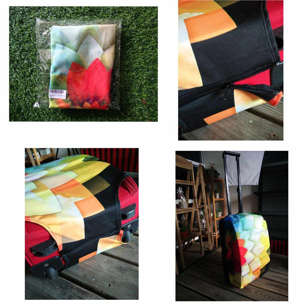 Coloranimal Elasticiteit Bagage Cover Leuke Amerikaanse Zwarte Meisjes Ontwerp Reizen Organizer Dikker Koffer Covers Voor 18-32 Inch