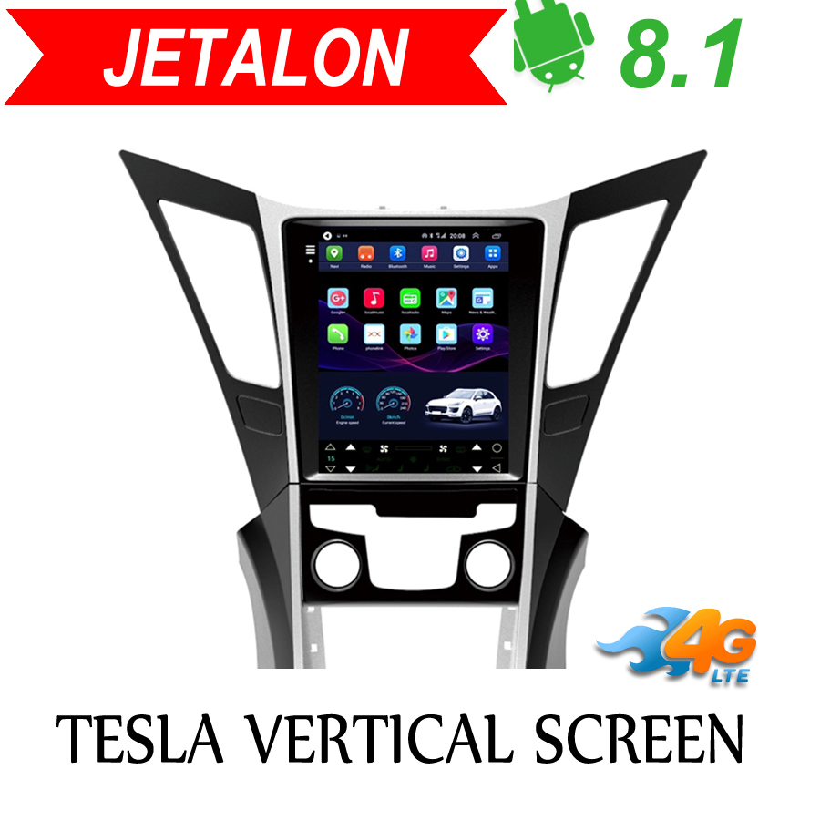 Tesla Vertical screen android 8.1 car <font><b>gps</b></font> multimedia radio player in dash for For <font><b>Hyundai</b></font> Sonata 2013-2015 car navigation stereo image