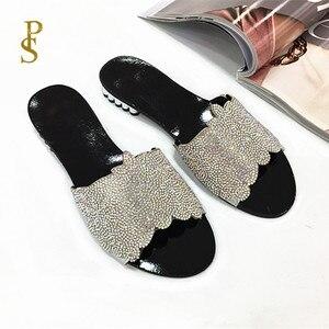 Image 3 - Sapatos planos para mulher chinelos diários para senhoras sapatos com saltos baixos e brocas