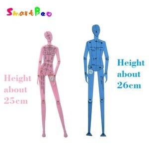 Image 3 - 패션 눈금자 세트 의류 디자인 인간의 몸 드로잉 템플릿 남자와 여자의 패션 그림 템플릿 조합 보드 세트