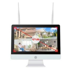 Image 5 - MISECU תקע ולשחק 8CH אלחוטי NVR ערכת 12 אינץ LCD NVR 1080P HD Vandalproof אבטחת IP מצלמה ראיית לילה WIFI טלוויזיה במעגל סגור מערכת