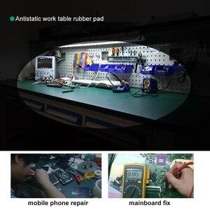 Image 5 - Tapis de travail antistatique de PVC tapis en caoutchouc de travail de bureau desd pour les outils électroniques de réparation de téléphone portable dentretien dordinateur portable de PC portable