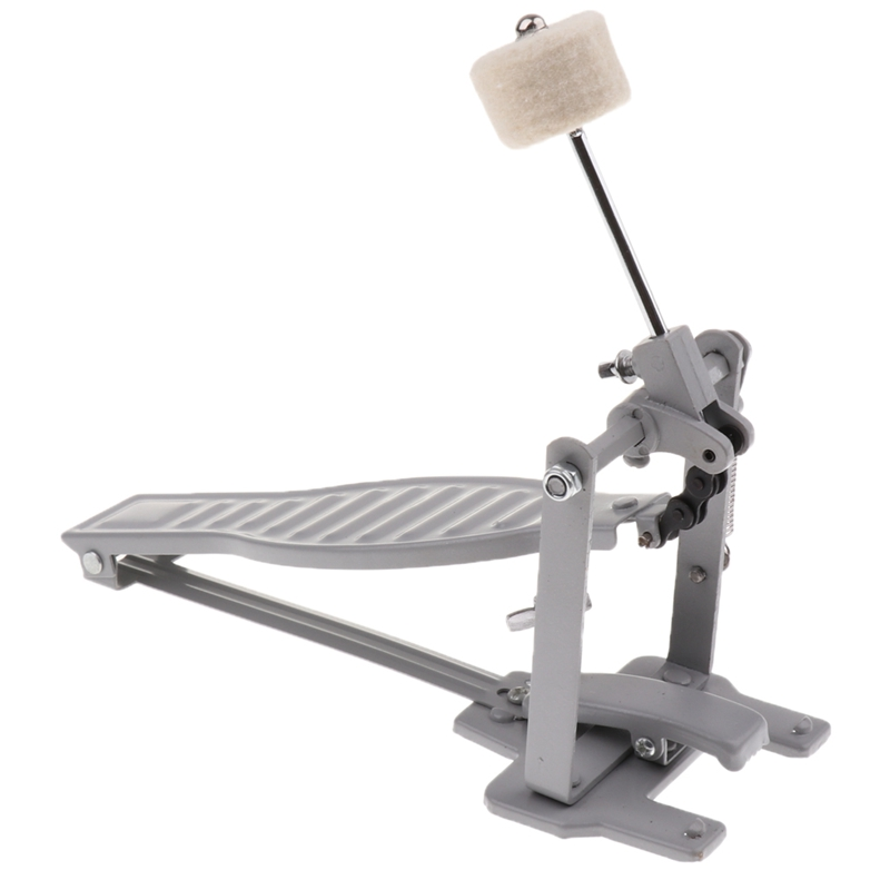 Aluminium Alloy Single Spring Bass Children Drum Pedal Adjustable Stroke with Wool Beater Percussion Replacement Accessories Sil