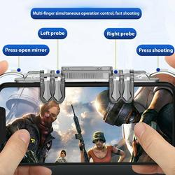 BEESCLOVER For PUBG iOS Android Mobile Gaming 6 Finger Controlle 6 Finger Controller Trigger Game Fire Button Handle Gamepad r57