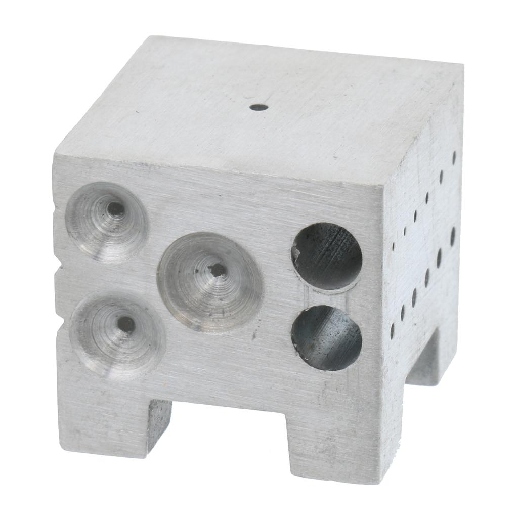 Mini Steel Dapping Doming Shaping Block Cube Jewelry Jeweler Punch Tool