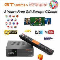 1080P Full HD medios GT V9 Super Europa Cline para 2/3 años Receptor de televisión por satélite H.265 WIFI mismo DVB-S2 GTmedia V8 Receptor NOVA