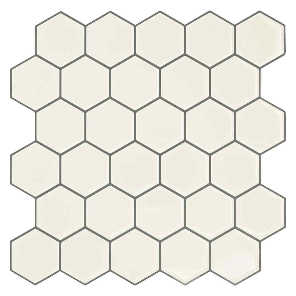 hexagon sticky mosaic shape self