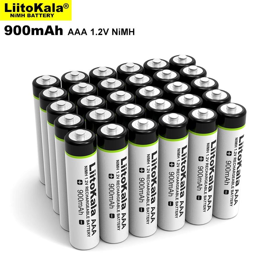 4-24 pièces LiitoKala Original AAA NiMH batterie 1.2V batterie Rechargeable 900mAh pour lampe de poche, jouets, télécommande