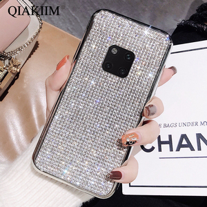 Rhinestone Bling Glitter Case for Huawei P20 P30 Lite Mate20 pro Soft Silicone Diamond Protector Back Cover for Nova3 4 Honor10(China)