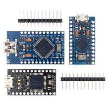 100 pces pro micro com o bootloader atmega32u4 5v/16mhz módulo com 2 linha pino cabeçalho mini leonardo para arduino