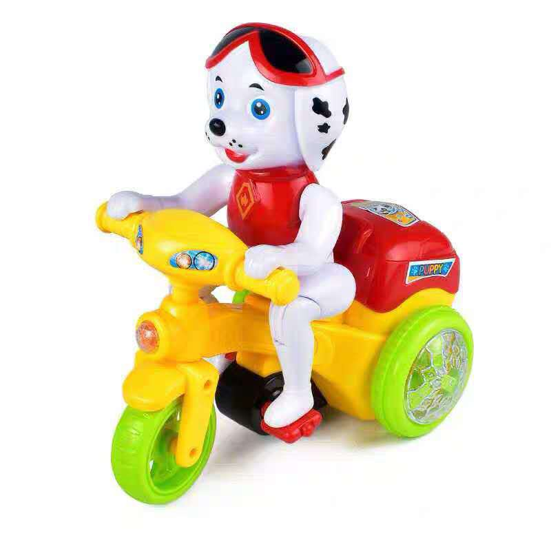 Paw Patrol Universal Wheel Sound Car Light Music Stunt Electric Toys Rotating Tilting Puppy Tricycle