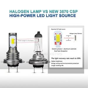 Image 3 - 2x H1 H3 H7 H8 H11 9005 HB3 9006 HB4 H16 3570 Chip Canbus Led lampe für Auto Led Nebel fahren Lichter DRL Lampe Weiß 6000K Gold