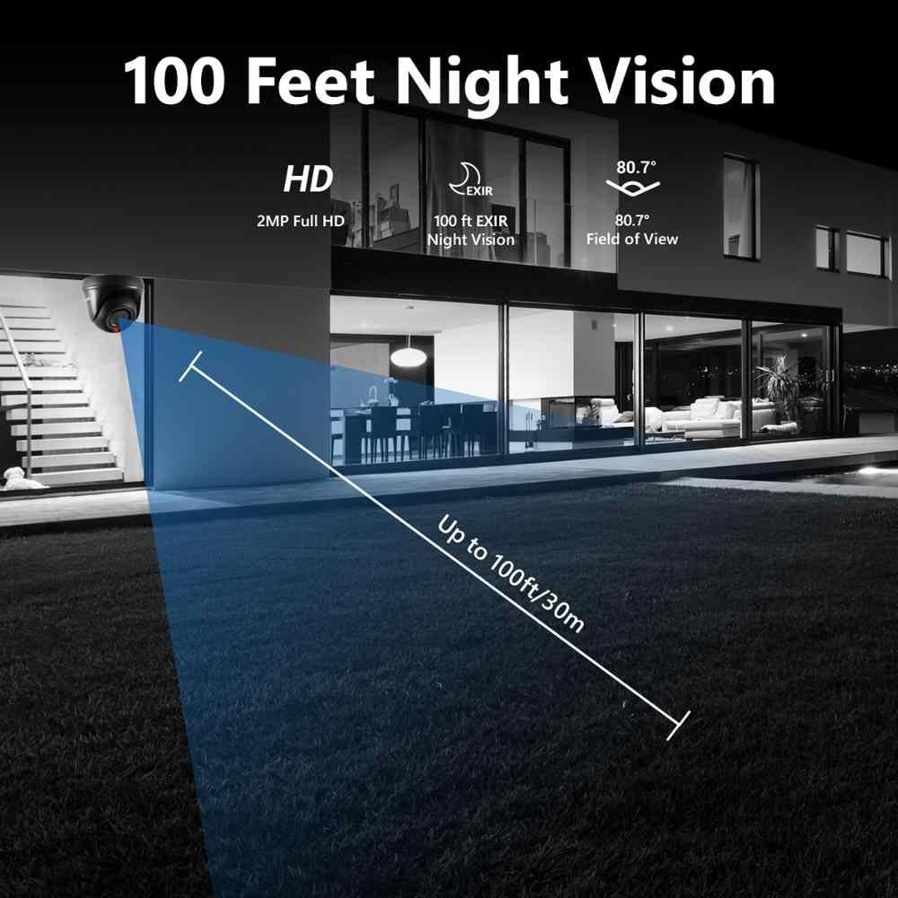 SANNCE 8CH 1080N HDMI DVR ระบบกล้องวงจรปิด 4pcs 1080P กล้องรักษาความปลอดภัย IR ในร่มกลางแจ้ง CCTV ชุด