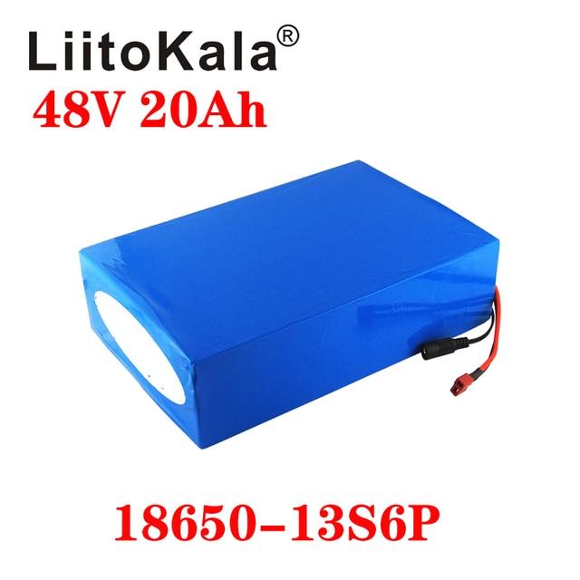 LiitoKala 48V 20AH High power 1000W Electric Bike Battery 48V 20AH E bike Battery 48 Volt Lithium Battery with BMS 2A Charge