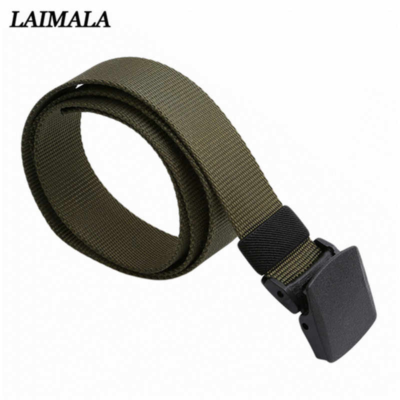 Military Tactical Nylon Waistband Sport Belt With Plastic Buckle Outdoor Military Army Fan Adjustable Hook & Loop Waistband