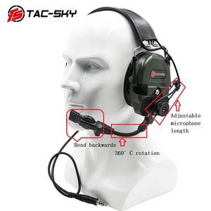 Image 5 - TAC SKY TCI LIBERATOR 1, orejeras de silicona, defensa auditiva militar, reducción de ruido, pastillas para deportes al aire libre, auriculares tácticos FG