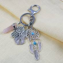 Handmade Dream Catcher Keychain Home Decor Gift Wind Chimes Key Ring Car Pendant Wall Hanging Decoration Gift Room Decor(China)