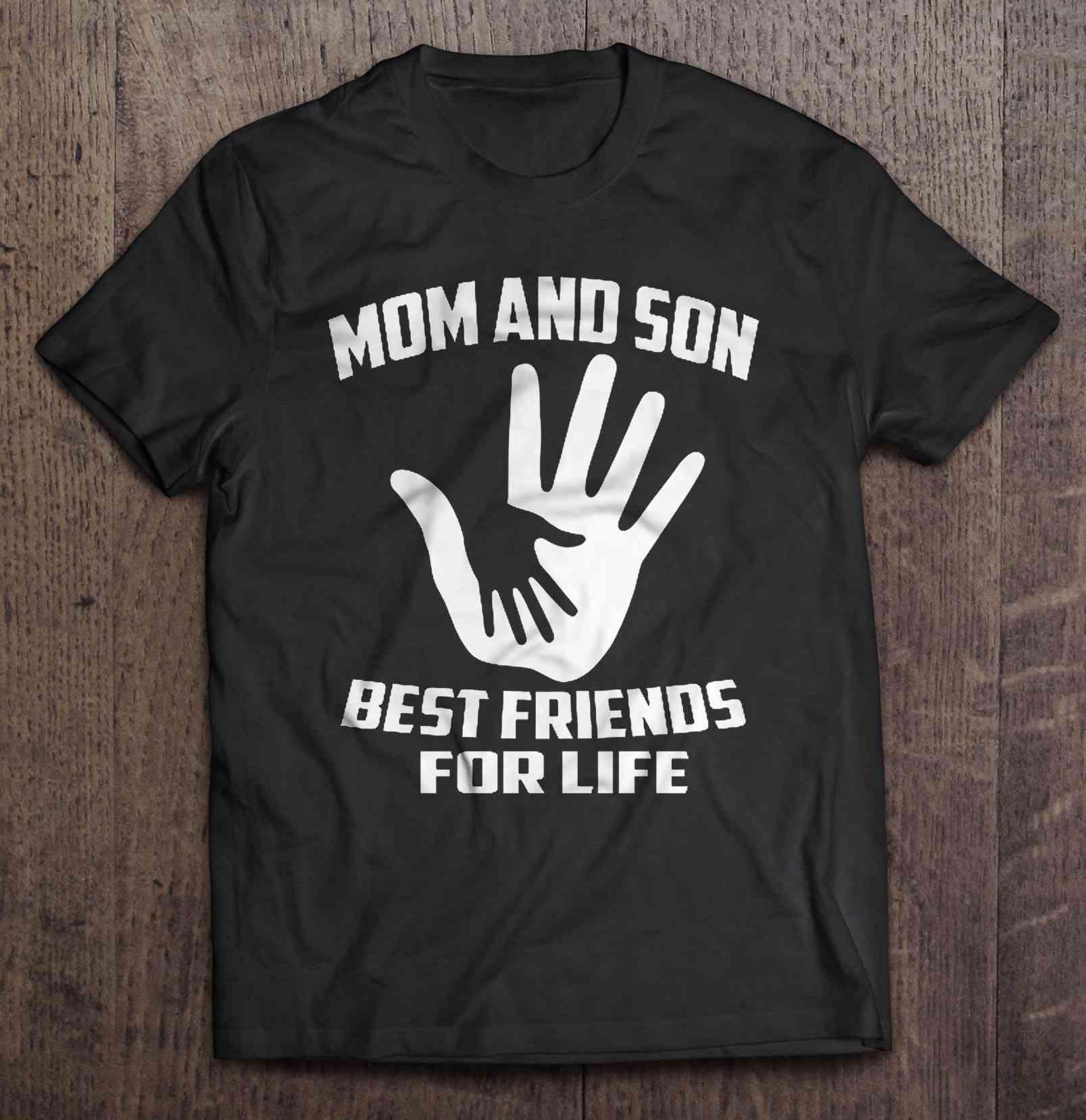 Мама и сын лучшие друзья для жизни версия 2 футболки
