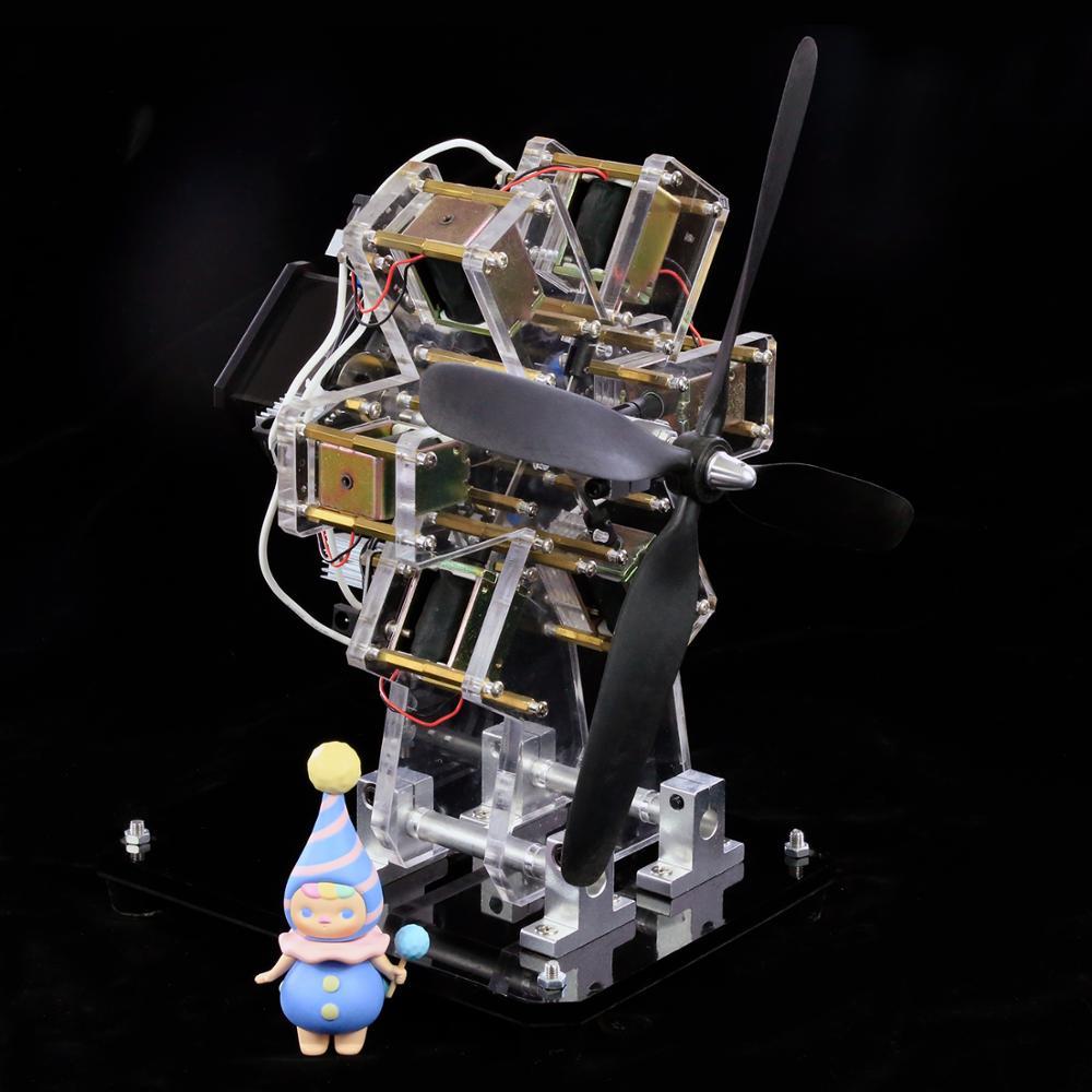 Moteur électro-aimant jouet moteur étoile moteur multi-cylindres modèle de moteur d'avion Science créative expérience cadeau bricolage - 6