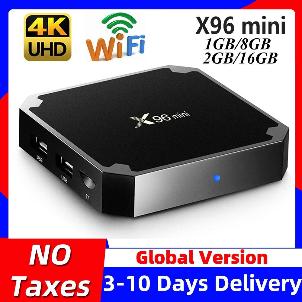 X96mini X96 mini Android 7 1 Smart TV BOX X 96 2GB 16GB 1GB 8GB Amlogic S905W Quad Core support 4K 30tps 2 4GHz WiFi Set top box