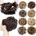 S-noilite пушистый шиньон парики синтетический волос Кудрявые грязный булочка эластичная резинка для волос прически шиньон волос парик, заколк...