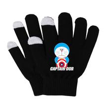 Gra Doraemon rękawiczki kobieta mężczyzna palec rękawiczki bawełniane ciepłe rękawiczki antypoślizgowe rękawiczki do ekranu dotykowego oddychaj swobodnie rękawiczki tanie tanio Unisex COTTON Dla dorosłych Cartoon Nadgarstek Moda SHOUTAO