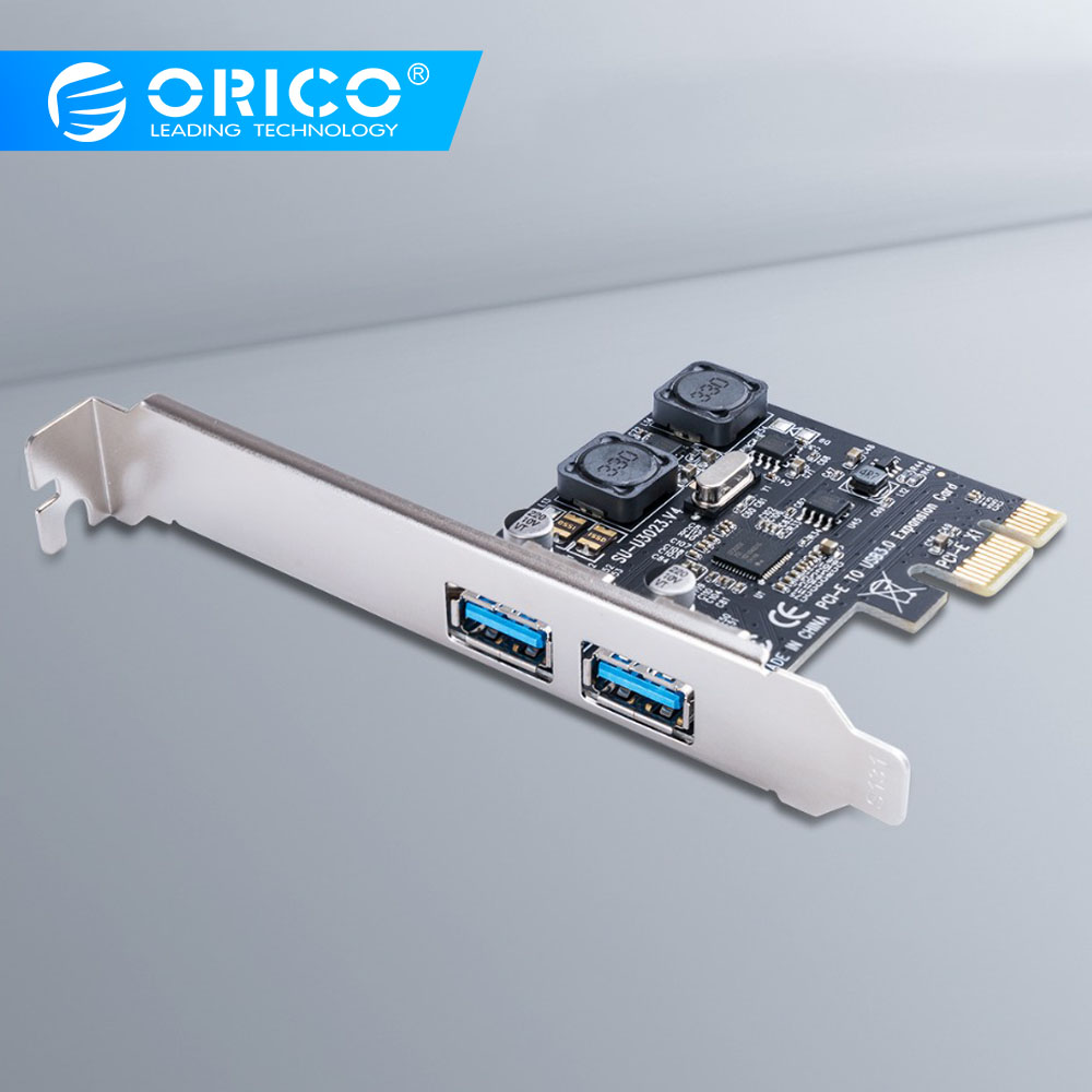 4 2 3 ORICO SuperSpeed 2 Port USB 3.0 PCI-E Express Card 5Gbps PCI-e Expansion Card USB3.0 hub Adapter for PCI-E X1 4 8 16 Card (1)