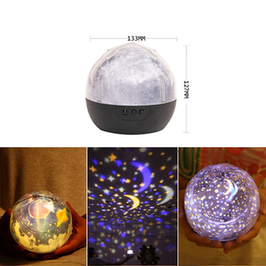 Image 2 - Stars Starry Sky LED Night Light Projector Luminaria Moon Novelty Table Night Lamp Battery USB Night Light For Children