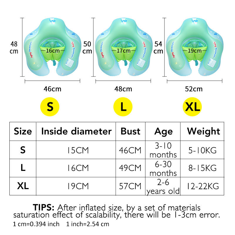 Image 5 - Baby Swimming Ring Inflatable Kids Bath Swim Circle Infant Swim Pool Floating Child Double Raft Safety Ring Water Zone ToySwimming Rings   -