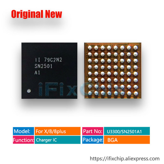 10 stks/partij 100% Nieuwe U3300 Voor iphone 8/8 plus/X/8 plus Opladen/Lader/USB /TIGRIS2 IC Chip