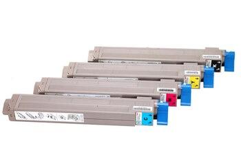 4pc kompatybilny OC9655 kaseta z tonerem kolorowym dla oki C9800 C9650 C9655 laserowa kaseta z tonerem kolorowym zestaw części drukarki kcmy