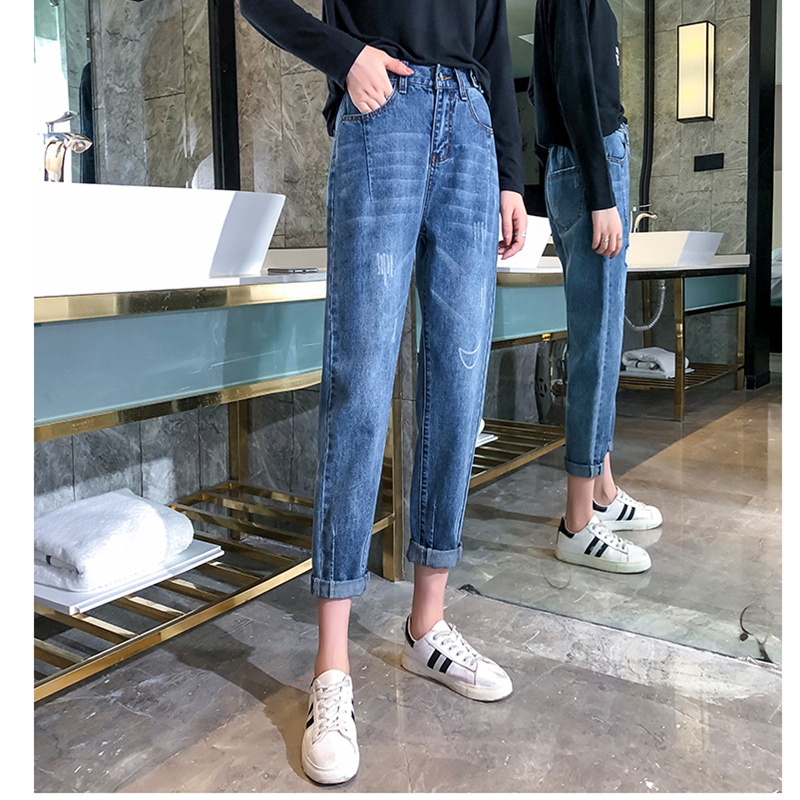 JUJULAND Summer Ripped Boyfriend Jeans For Women Fashion Loose Vintage High Waist Jeans Plus Size Jeans Pantalones Mujer 625
