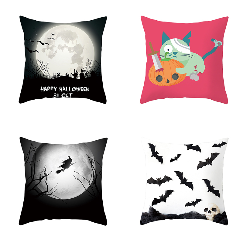 Custom Halloween Witch Bats Car Seat Covers Front Seats Protector Cushions