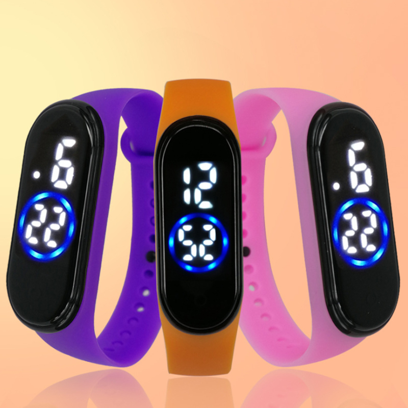 The New Men Women Sport Casual LED Silicone Watches Digital Clock Luminous Sensor Waterproof Electronic Wrist Watch