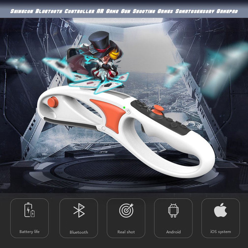VR SC AG14 Bluetooth Controller AR Game Gun Shooting Games Somatosensory Gamepad for Android for iOS Smartphone Gamer