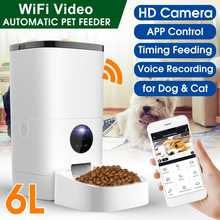 6L Pet Automatic Feeder Cat Dog Food Dispenser Vedio Version Smart 5S Voice Recorder APP Control Timing Feeding With HD Camera