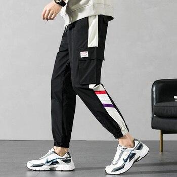 Men Fashion Sweatpants Harem Pants 2020 Brand New Streetwear Joggers Men Fashion Multi-pocket Cargo Pants Men Casual Trousers