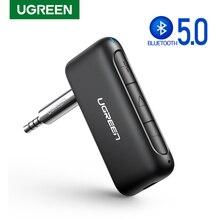 UGREEN odbiornik Bluetooth dla samochodów przenośny bezprzewodowy zestaw słuchawkowy Bluetooth 5.0 Adapter Audio 3.5mm Aux wyjście Stereo z mikrofonem system Hi Fi