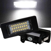 2PCS Car License Plate Led Light Lamp 12v White 6000K for BMW X1 E39 E60 E82 E90 E92 E93 M3 E39 E60 E70 X5 E60 E61 M5 E88 X6