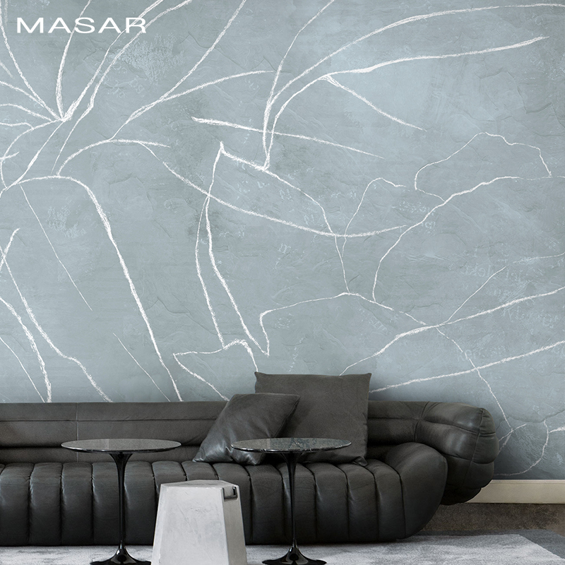 MASAR Hand-painted Design Abstract Floral Elements Custom Murals Pastel Bedroom Background Wall Paper Living Room Wallpaper Lily