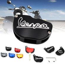 Universal para vespa caso chave capa da motocicleta cnc de alumínio escudo protetor piaggio gts sprint primavera 150 300 125 acessórios
