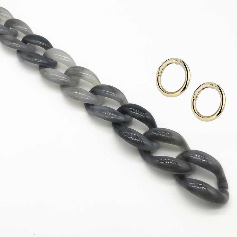 60cm Detachable Leopard Acrylic Shoulder Strap Bag DIY Neck Chain Resin Handbag Chain Plastic Strap for Women Bag Accessories