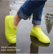 Boots Waterproof Shoe Cover Silicone Material Unisex Shoes Protectors Rain Boots Indoor Outdoor Days Unisex Shoes Protectors(China)